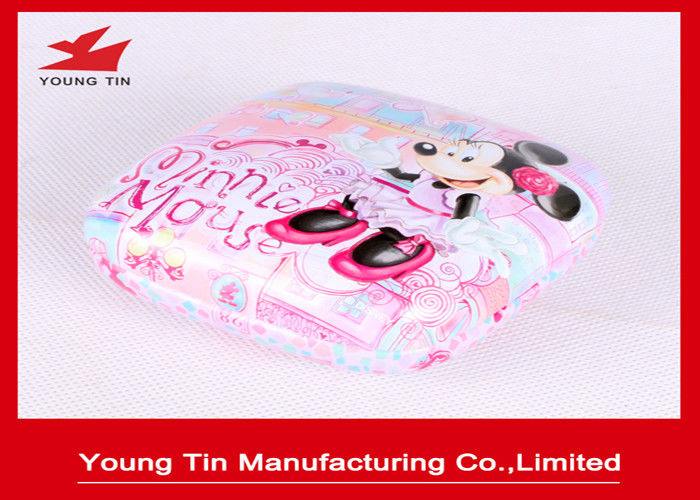 Empty Custom Printing Metal Cosmetic Tins , Glossy Finished Cosmetic Sample Containers