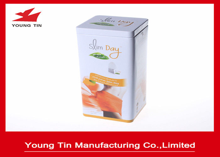 0.23 MM Thickness Tinplate Metal Tea Packaging Tins Custom Printing and Embossing