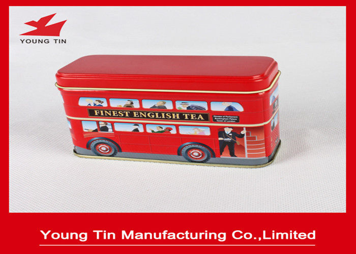 Finest English Tea Packaging Mini Tin Box With Custom Artwork CMYK Printing Outside