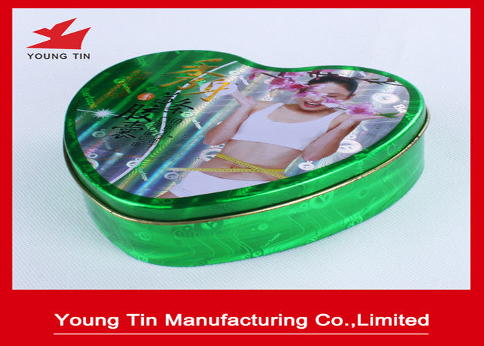 Slender Capsules Packaging Heart Shaped Gift Box Metal Tinplate Material YT1043