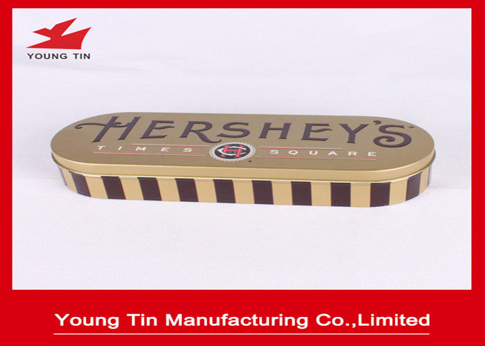 Custom Printed Chocolate Packaging Gifts Tin Boxes With 0.23 MM Tinplate